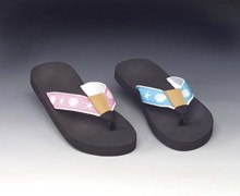 Youths' Seashore Woven Strap Flip Flops