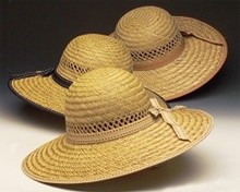 Lady's Ribbon Trim Straw Hat