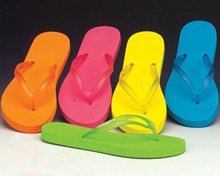 New! Neon Flip Flops with Translucent Straps
