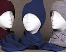 Find winter knit beanies and hats, scarves, ear warmers, safety yellow, hunting camo, magic knit gloves and more.