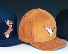 Sale! Duck & Deer Embroidered Corduroy Cap