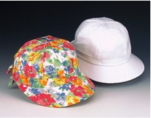 Girl's Scoop Hat - White or Floral Prints