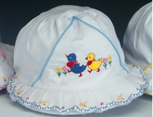 Infant's Eyelet Bonnet