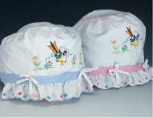 Sale - Embroidered Bird Bonnet