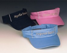 Sale - Embroidered City Name Visor