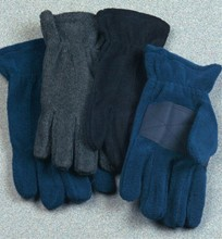 Men's Polyfleece Gloves with Palm Patch - Asst. Dark Colors