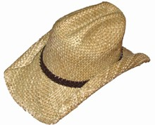 Rolled Seagrass Cowboy Hat