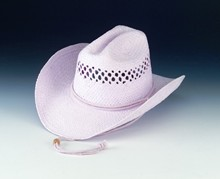 Girl's Pink Western Hat with Vented Crown