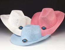 Woven Western Hat - Turquoise Buckle