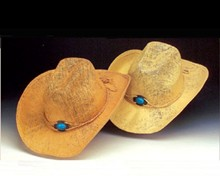 Woven Western Hat - Turquoise Buckle - Neutrals
