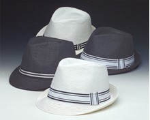 Pinched Front Fedora - Asst. Black & White