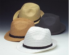 Pinched Front Braided Trim Fedora