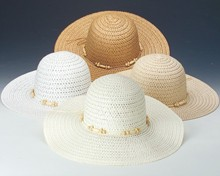 Round Crown Ribbon Trim Hat