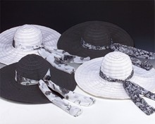 Extra Wide Brim Collapsible Ribbon Hat
