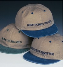Embroidered Sayings Caps - Child's Sizes