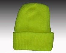 Safety Yellow Knit Cuff Hat