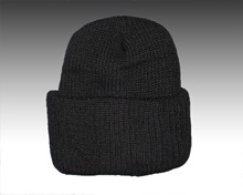 Sale! Black Knit Cuff Cap