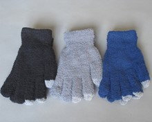 New! Touchscreen Fluffy Supersoft Magic Gloves - Assorted - Large