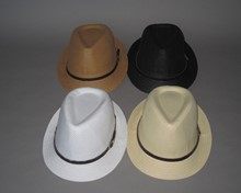 New! Pinched Front Fedora - Larger Size Asst. - Leatherette Band