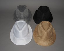 New! Pinched Front Fabric Hat - Larger Size Asst.