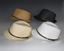 New! Pinched Front Fedora - Leatherette Band
